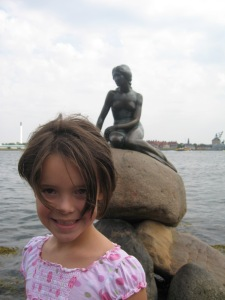 Hans Christian Andersen is from Copenhagen and this statue of The Little Mermaid is the most visited tourist attraction in the city. Sarah loved seeing her and we went twice.